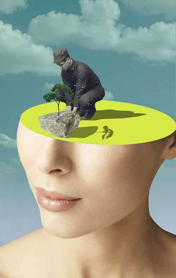Matthieu Bourel's Surreal Collages Are Quietly Strange