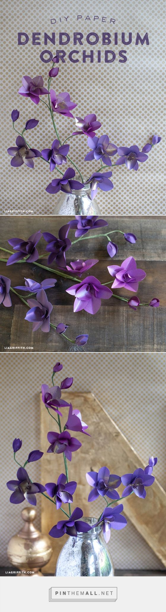 DIY Metallic Paper Orchid. Free pattern and tutorial. For more inspiration check out www.liagriffith.com