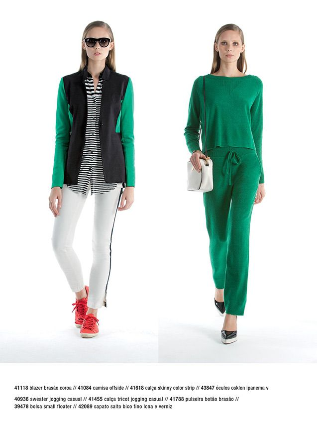 Green pants from Osklen.