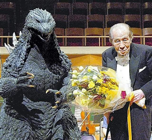 Akira Ifukube was a Japanese composer of classical music and film scores, perhaps best known for his work on the soundtracks of the Godzilla movies by Toho.
