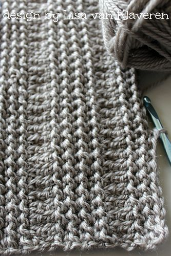 Ravelry: Unbelievable Crocheted Blanket or Scarf pattern by Lisa van Klaveren
