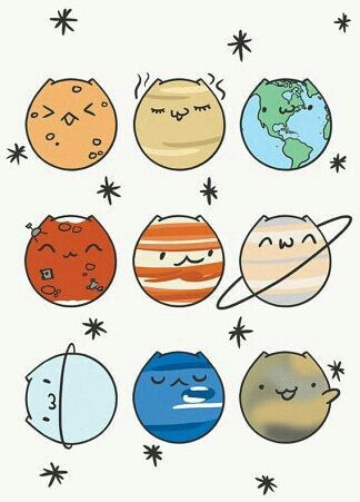 Cute planet drawings