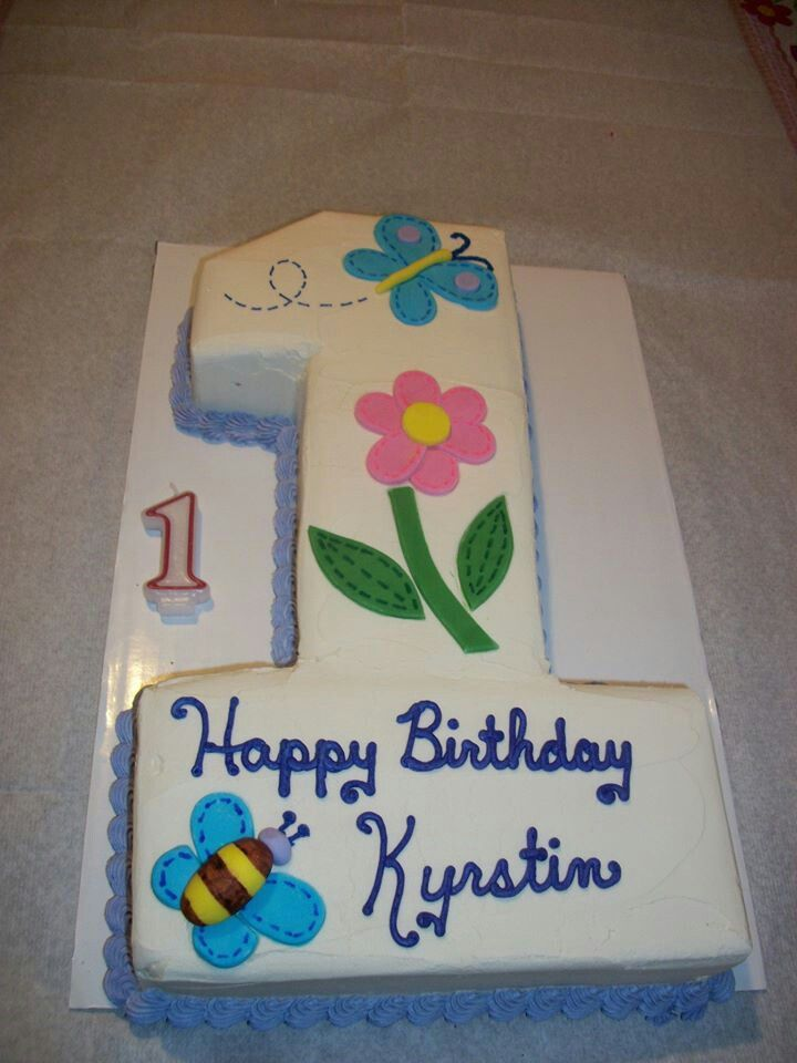 First Birthday Cake Pinterest