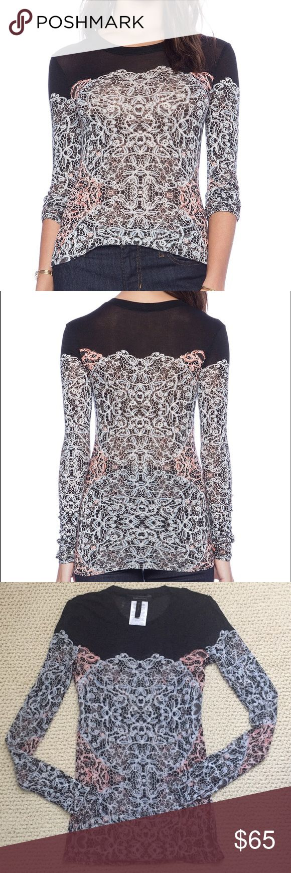 BcbgMaxAzria top Used once washed once. Exellent condicion like new! No return No trade! BCBGMaxAzria Tops