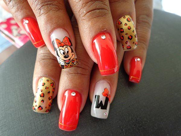 Fotos de unhas decoradas da Minnie (nail art) - Ana Paula Villar
