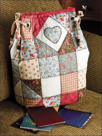 ~ Patchwork Backpack w/ Heart ~ pattern & tutorial....