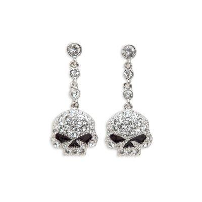 harley davidson clothing for women | Skull Earrings - Harley Davidson Womens, 99423-13VW