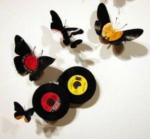 Adornos de discos!!!  Reciclajes impresionantes hechos en casa - Taringa!