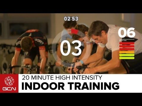 20 Minute High Intensity Indoor Cycling Workout - Love to spin after a 10 K run on a Sunday morning.