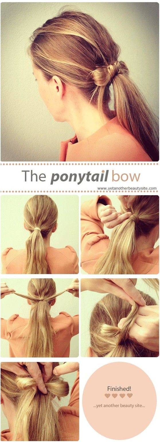 The ponytail bow step-by-step tutorial! Change up your look with haircare and hair accessories from Beauty.com!