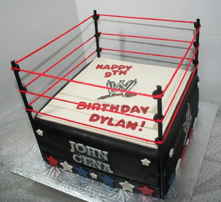 A wrestling ring cake for Topher's bday??  I think YES!!!
