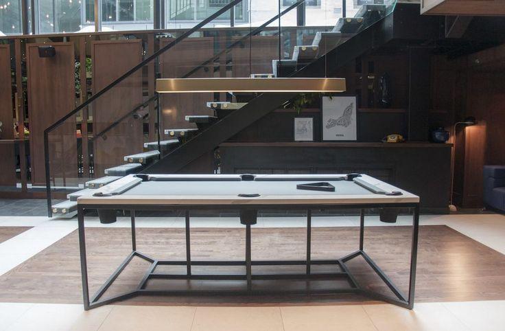 Table de billard au design minimaliste - #Design - Visit the website to see all photos http://www.arkko.fr/table-billard-design-minimaliste/
