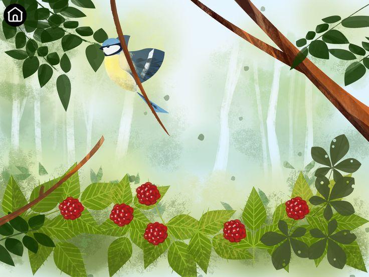 Raspberry scene screenshot from Bloom app