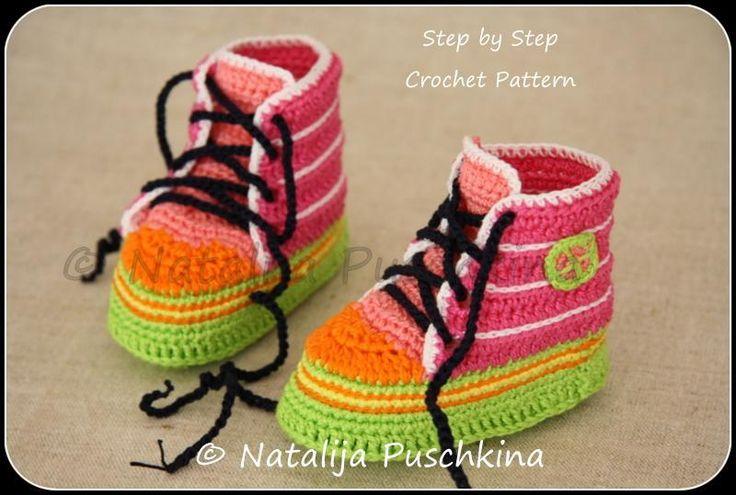 Crocheting: Funky Baby Booties Crochet Pattern.