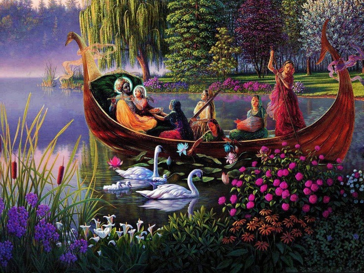 Hare krsna+boat+with+gopis