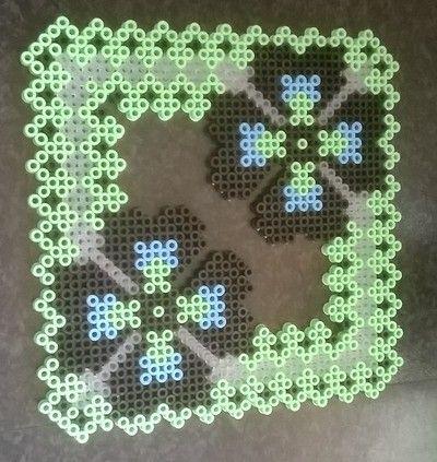 Perler bead trivet by Perlerwonders