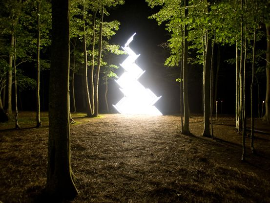 yochai matos flame gate light installation 2009 850 x 530 cm