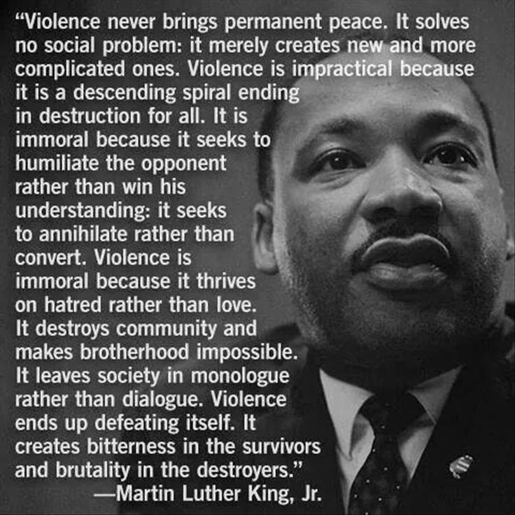 Martin Luther King a truly inspirational man.