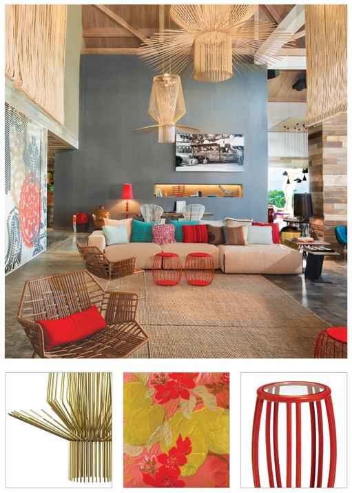 ... kleur in dit design interieur van Patricia Urquiola. #kleur #interieur