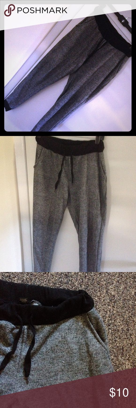 Grey jogger pants Comfy and stylish joggers. Great for fall! Gently worn (see picture #3 and 4). Look super cute with wage sneakers 👟👟  or UGGs. Size L but run a little small (if you want relaxed jogger look). The best look on size M Red Fox Pants Track Pants & Joggers