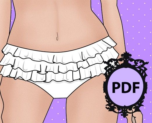 The Frilly Knickers Pattern B0902 by Bettiemarie on Etsy, $10.00