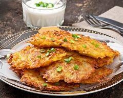 Pancakes sal�s de pommes de terre