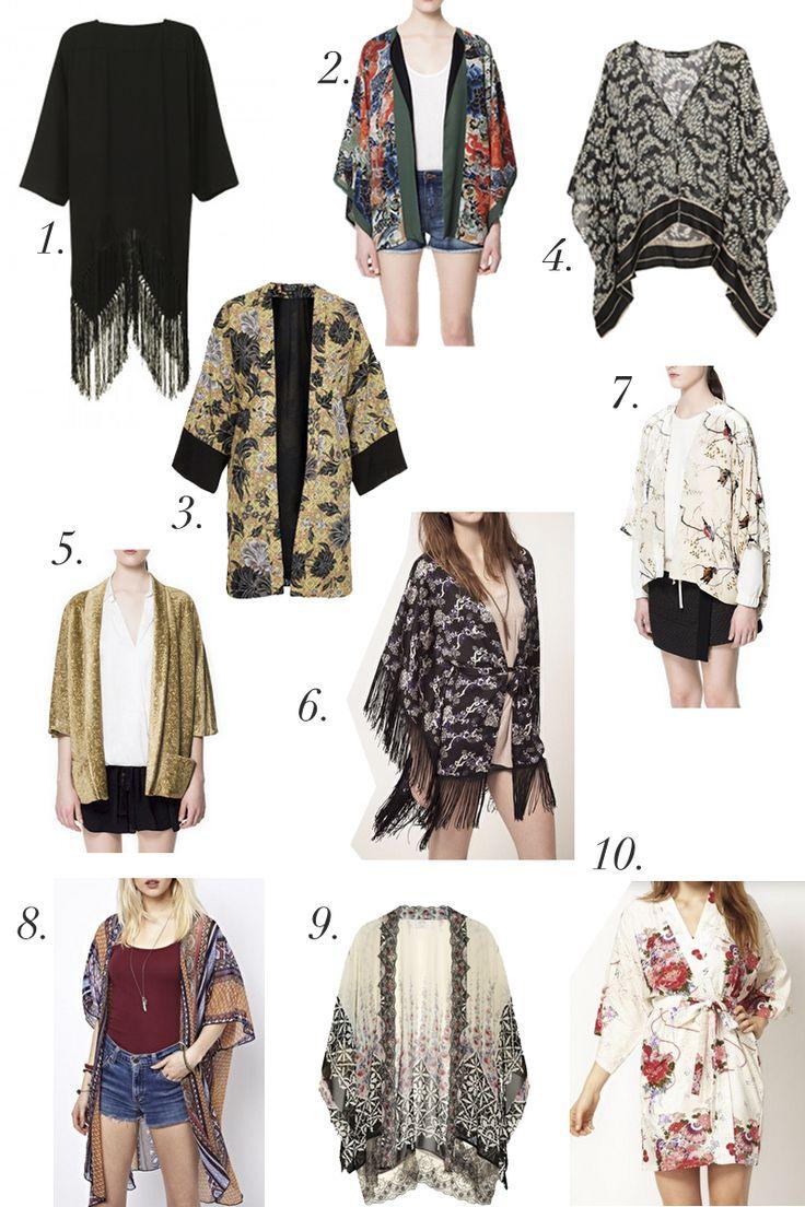 kimono fashion trend | glam net kimono 2 zara japanese kimono 3 topshop kimono 4 elizabeth ...