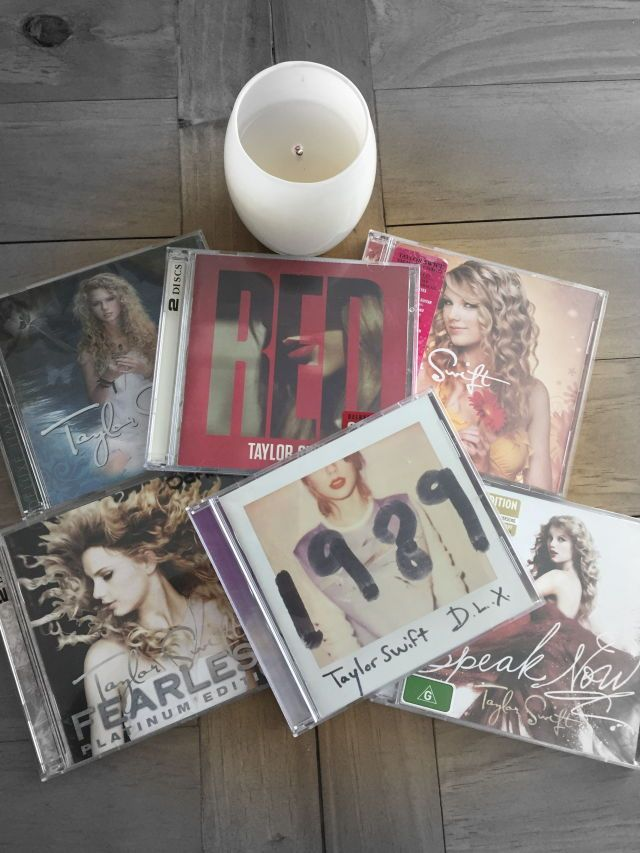 I own all of these but the only deluxe one is Taylor Swift. I also own a speak now live world tour cd. -Abigail