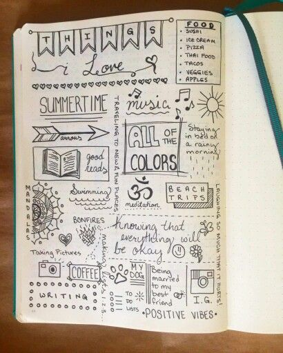 Doodles Easy Diary Ideas Journal Inspiration
