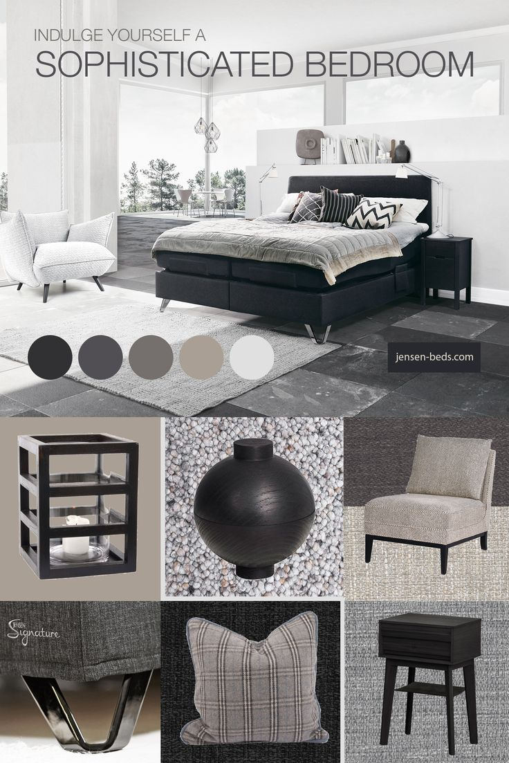 Indulge yourself a sophisticated bedroom. Visit us at http://jensen-beds.com/ and find the perfect bed for your bedroom. Picture Credit: http://jensen-beds.com/ http://kristinadam.dk/ http://www.tisca.at/en/products/ http://www.lama.com/ https://www.bohus.no/