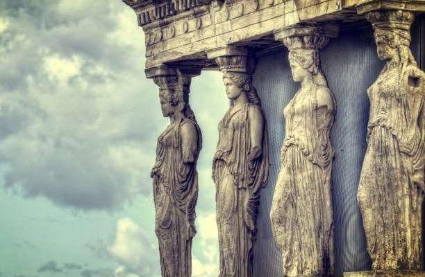 Καρυάτιδες ακρόπολη Παρθενώνας Αρχαία Ελλάδα μνημεία