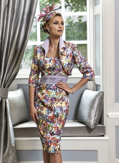 A vibrant Mother of the Bride & Mother of the Groom dress from the Portofino 2016 Collection by Ian Stuart London. This lavender/multi-coloured dress has been designed using a abstract jacquard and dolce taffeta fabric. Paired with a matching jacket. Product code ISL642. View more Mother of the Bride / Groom dresses from our Ian Stuart collection at: http://www.baroqueboutique.co.uk/mother-of-the-bride-south-wales/  Photographs courtesy of:  http://www.ianstuart-london.com/