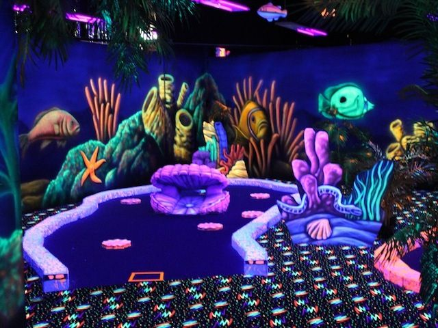 Austin Bouldering Project >> Oceans 18 Black Light Mini Golf in Monterey is a pretty cool little indoor golf facility ...
