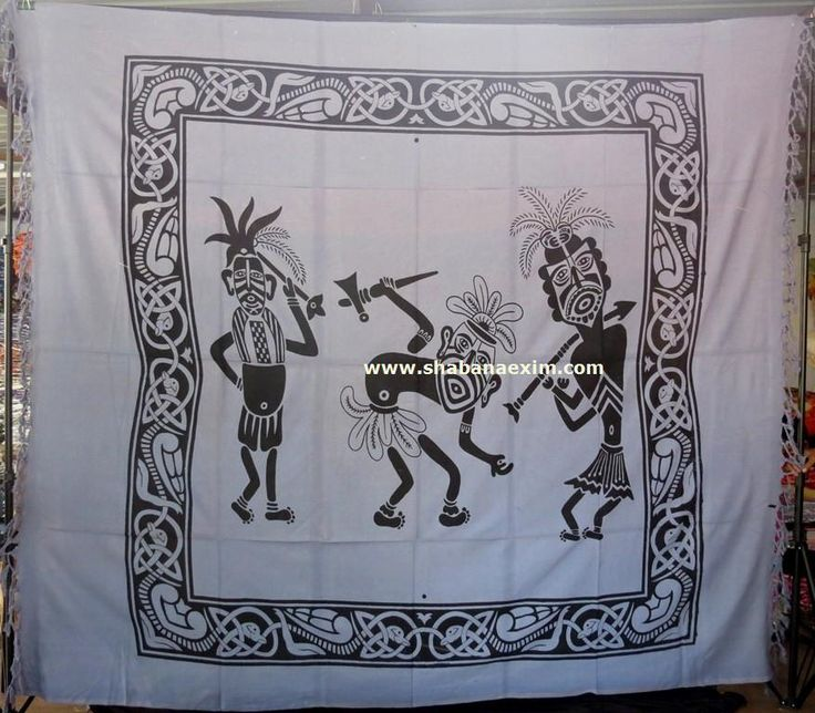 Three African Man Dancing Tapestry Hippie Wall Hanging africa tribe prints Product Id:	: 3052 Size:	: 150X220cm, 210X240 cm, Material:	: 100% Cotton Design:	: Printed Colors:	: Any Custom Color