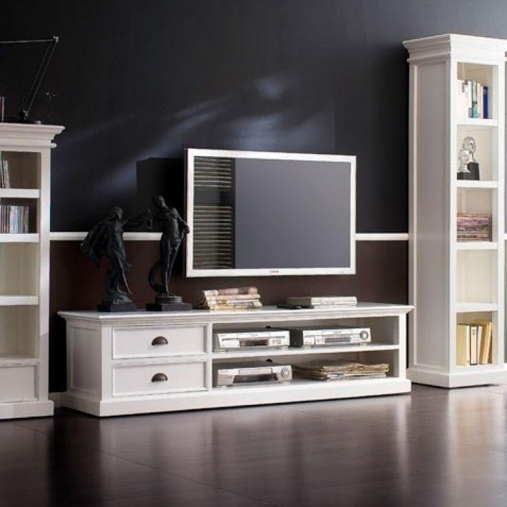 Whitehaven Painted Living Room Furniture Large TV Unit 2 Drawer