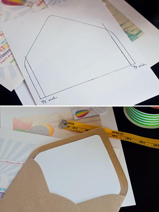 67 best Card -Envelopes images on Pinterest Paper, Card boxes - sample envelope liner template