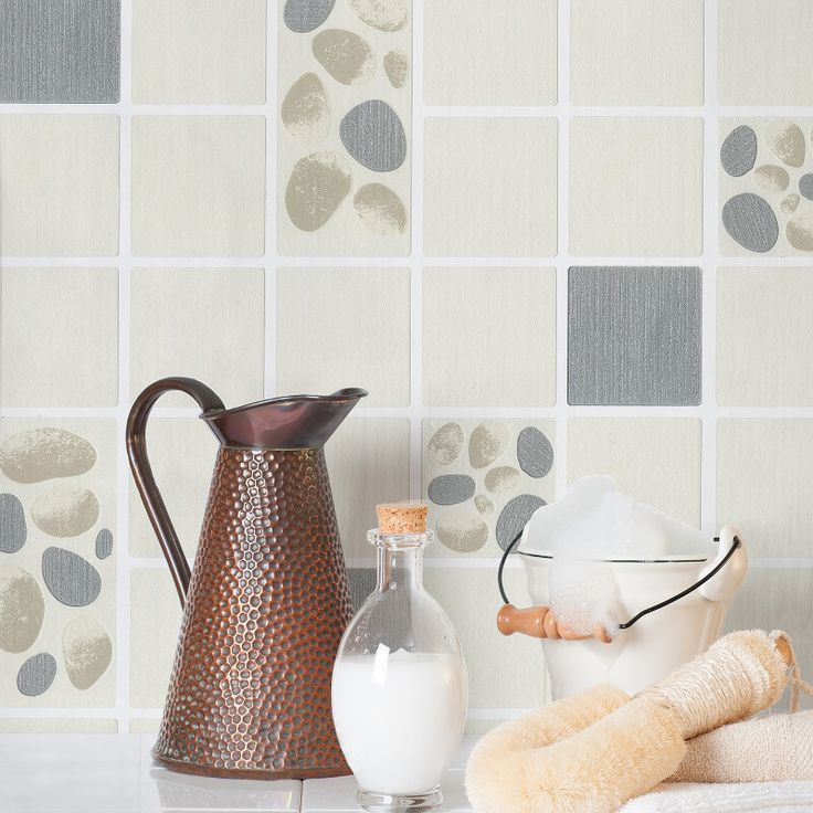 Crown Pebbled Tile Wallpaper In Cream Is A Modern Luxury Textured Vinyl With Striking Texture And Pattern