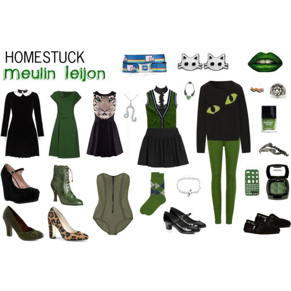 """Homestuck Fashion: Meulin Leijon"" by khainsaw on Polyvore"