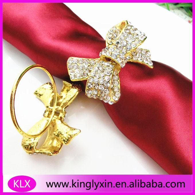 alexia168 provides the exquisite (100pcs/lot ) 2016new ! wholesale gold napkin rings rhinestones for ribbon can help you when you want your dining table look both tiny and artistic. Such us the knitted napkin rings, lace napkin rings and ladybug napkin rings.