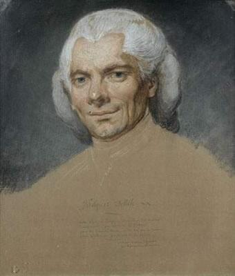 PORTRAIT DE L'ABBÉ JACQUES DELILLE   by  Joseph Ducreux
