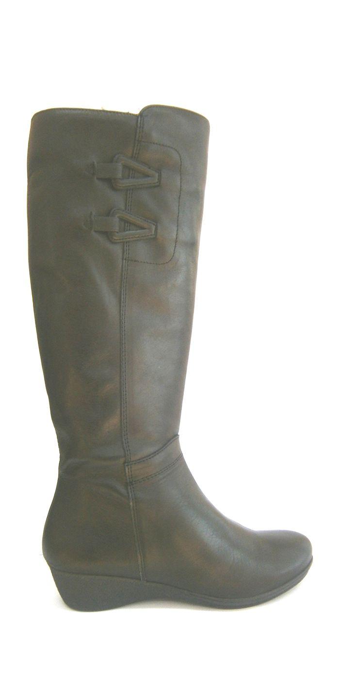MODELO 3052 NEGRO #botas#cuña#piel#hechaenespaña