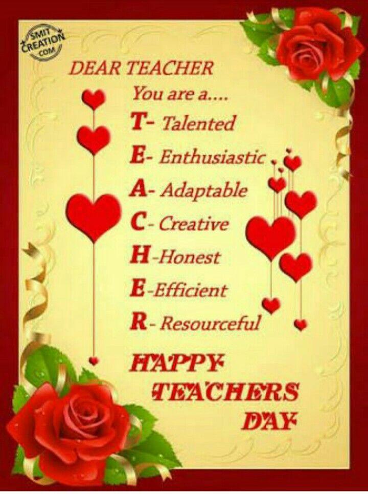 Happy Teachers Day Happy Teachers Day Teachers Day Card Happy Teachers Day Card
