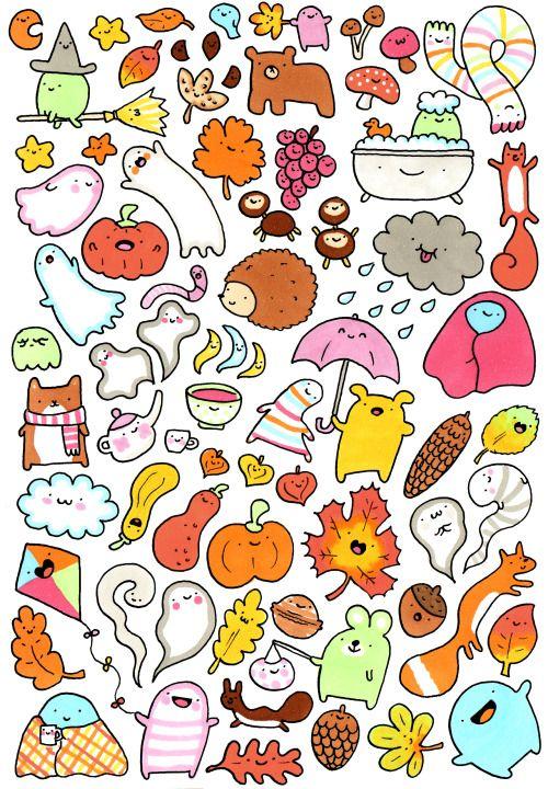 fox doodle Buscar con Google Dibujos kawaii, Dibujos
