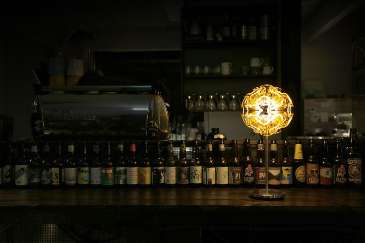 Night bar decorates with Coral designer lamp- QisDesign lamp