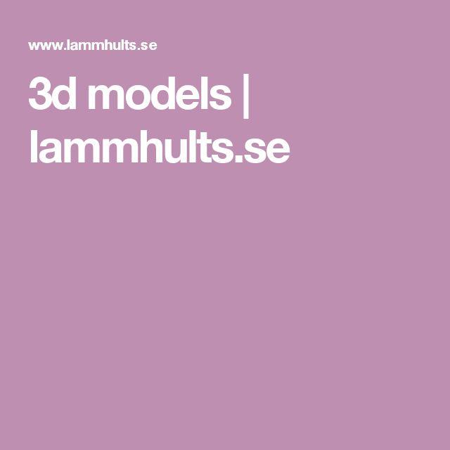 3d models | lammhults.se