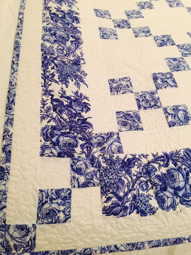 Delft Blue Chaining Nine Patch And Pattern Pinteres