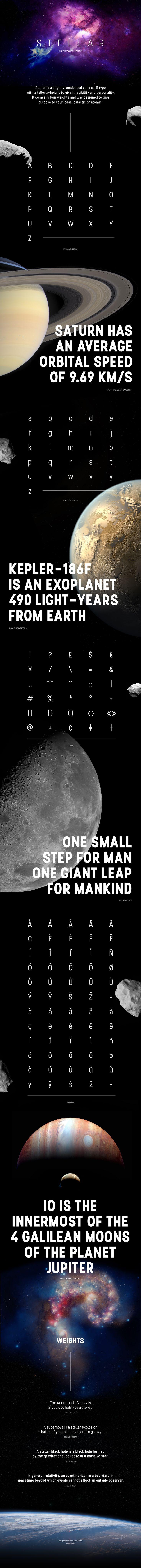 Stellar - Free Font on Behance