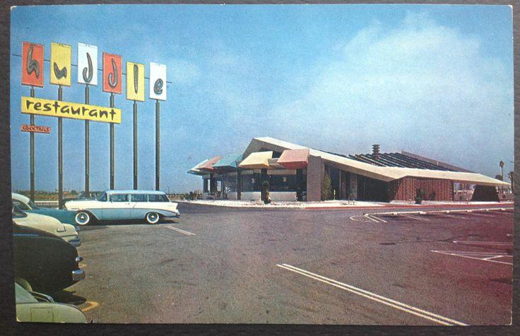 googie architecture west covina california vintage postcard huddle restaurant eastland. Black Bedroom Furniture Sets. Home Design Ideas