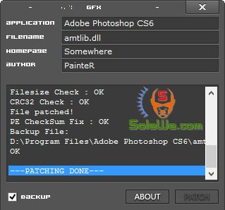 Adobe Photoshop CS6 v13.0 32/64-bit amtlib.dll Crack Patch