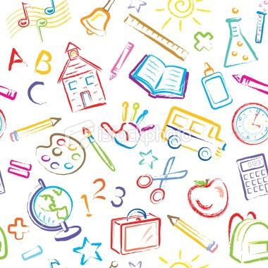 School Symbols Seamless Pattern Royalty Free Stock Vector Art Illustration
